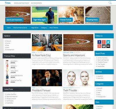 Шаблон WordPress - Times