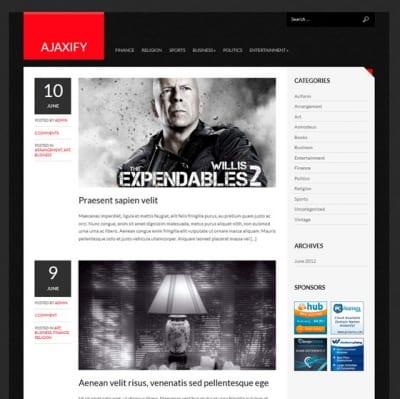 Шаблон WordPress - Ajaxify