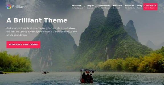 Шаблон Wordpress - Brilliance
