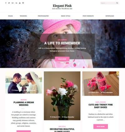 Шаблон WordPress - Elegant Pink