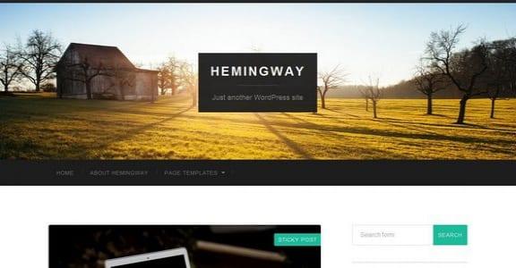 Шаблон Wordpress - Hemingway
