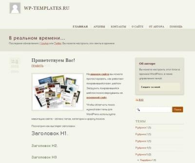 Шаблон WordPress - Премиум-тема YouAre