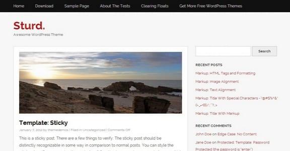 Шаблон Wordpress - Sturd
