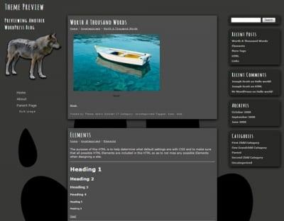 Шаблон WordPress - Wolf