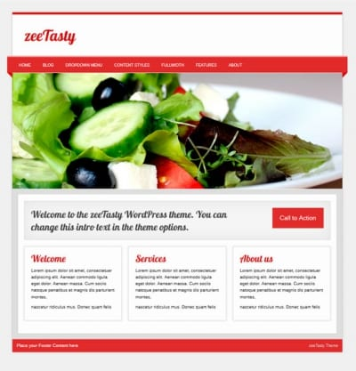Шаблон WordPress - zeeTasty