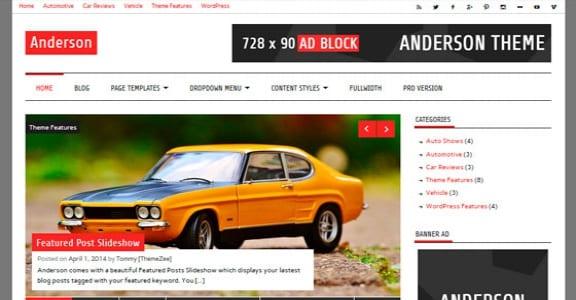 Шаблон Wordpress - Anderson Lite