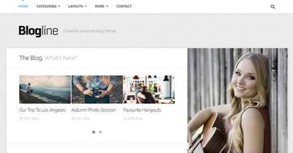 Шаблон Wordpress - Blogline