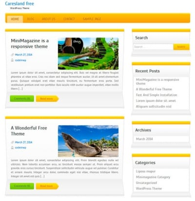 Шаблон WordPress - Caresland Lite
