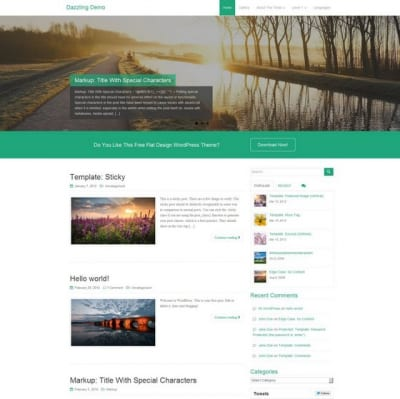 Шаблон WordPress - Dazzling