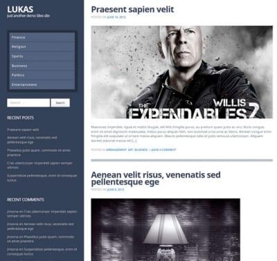 Шаблон WordPress - Lukas