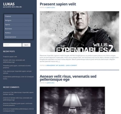 Шаблон WordPress - Lukas