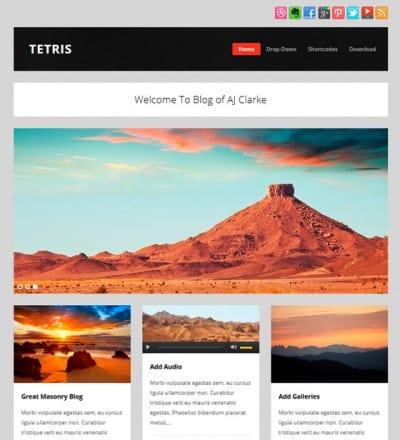 Шаблон WordPress - Tetris