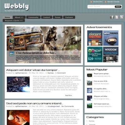 Шаблон WordPress - Webly