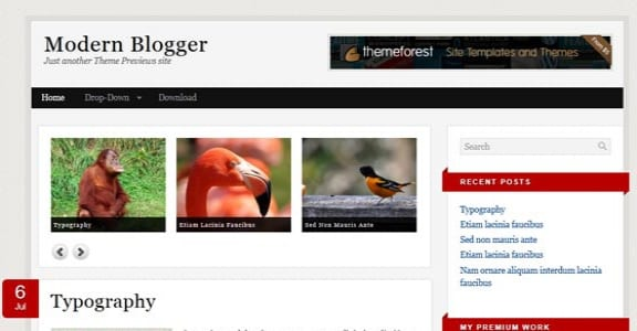 Шаблон Wordpress - Modern Blogger