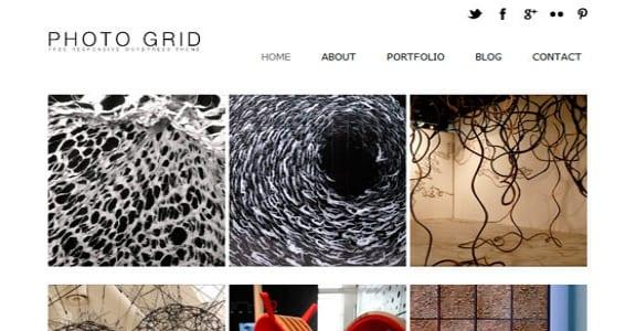 Шаблон Wordpress - PhotoGrid