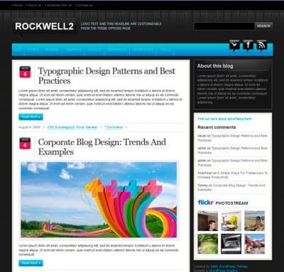 Шаблон WordPress - Rockwell
