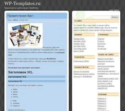 Шаблон WordPress - Supr Preppy