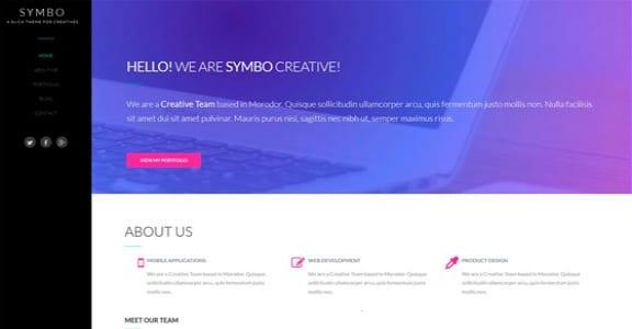 Шаблон Wordpress - Symbo