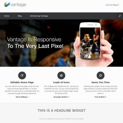 Шаблон WordPress - Vantage