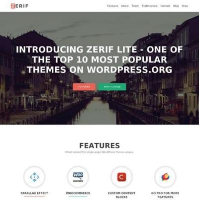 Шаблон WordPress - Zerif Lite