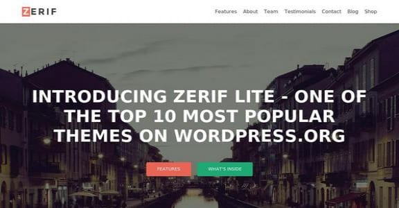 Шаблон Wordpress - Zerif Lite
