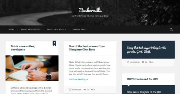 Шаблон Wordpress - Baskerville