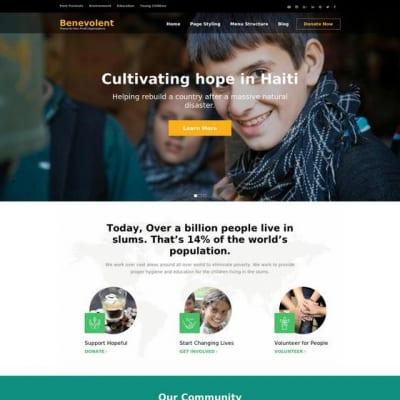 Шаблон WordPress - Benevolent