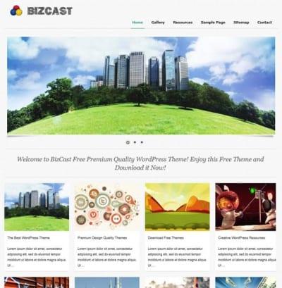 Шаблон WordPress - BizCast