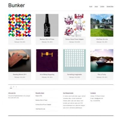 Шаблон WordPress - Bunker