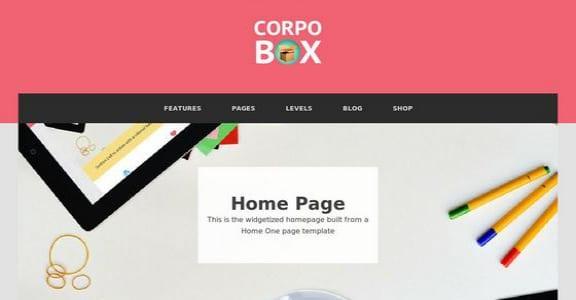 Шаблон Wordpress - Corpobox Lite