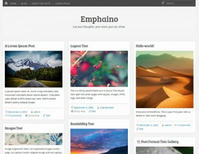 Шаблон WordPress - Emphaino