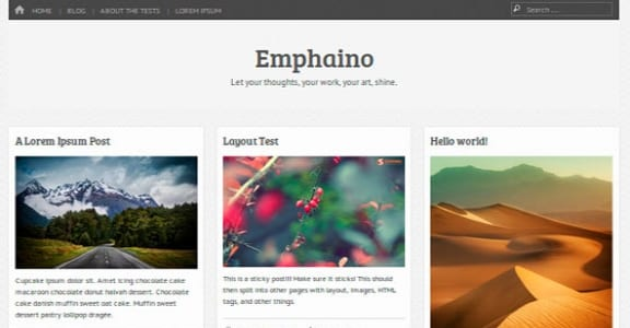 Шаблон Wordpress - Emphaino