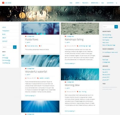 Шаблон WordPress - Fluida