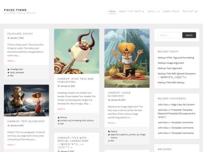 Шаблон WordPress - Pieces