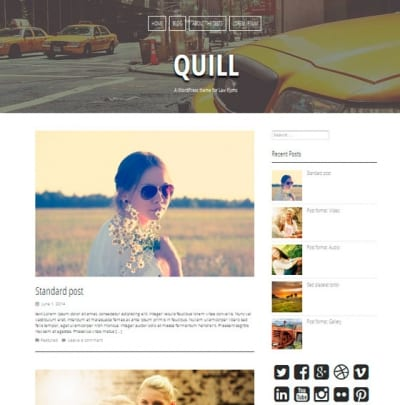Шаблон WordPress - Quill