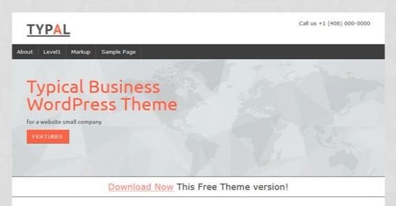 Шаблон Wordpress - TYPAL