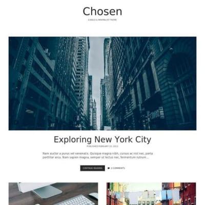 Шаблон WordPress - Chosen