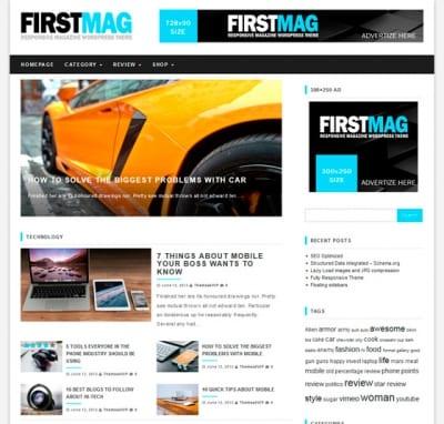 Шаблон WordPress - First Mag