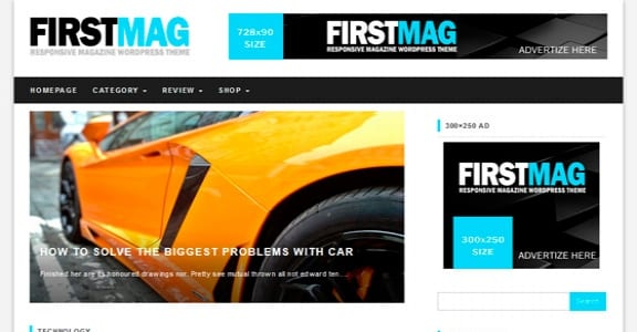 Шаблон Wordpress - First Mag