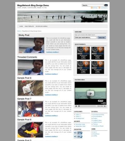 Шаблон WordPress - Indomagz