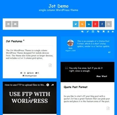 Шаблон WordPress - Jot