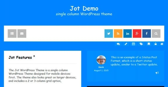 Шаблон Wordpress - Jot