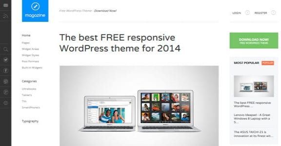 Шаблон Wordpress - Magazine