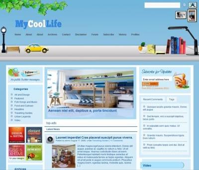 Шаблон WordPress - MyCoolLife