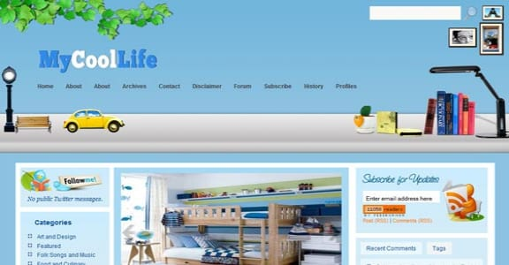 Шаблон Wordpress - MyCoolLife