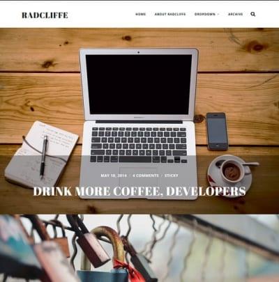 Шаблон WordPress - Radcliffe