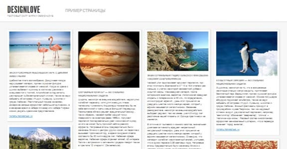 Шаблон Wordpress - Shaken Grid Free
