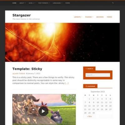 Шаблон WordPress - Stargazer