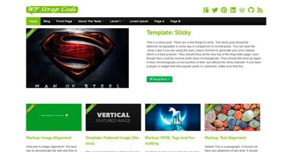 Шаблон Wordpress - StrapVert