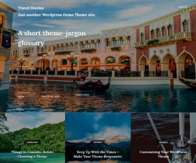 Шаблон WordPress - Travel Stories